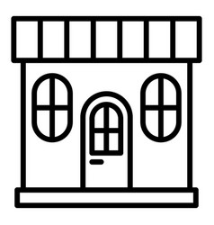 Street marketplace icon outline style vector