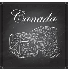 sushi sketch Canada roll vector image