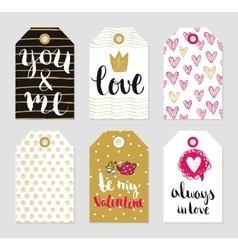 tags set of love theme vector image
