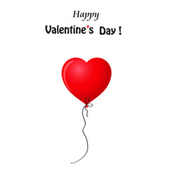 valentines realistic heart shaped helium balloon vector image