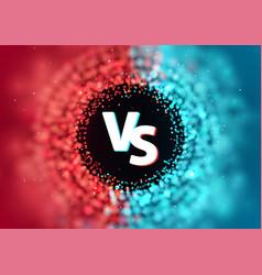 versus battle template vs let vector image