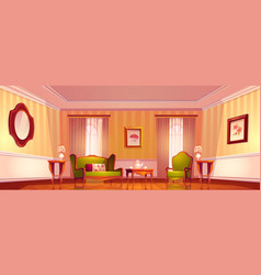 Victorian living room old royal baroque interior vector