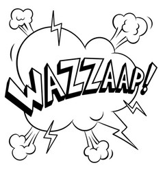 Wazzaap word coloring vector