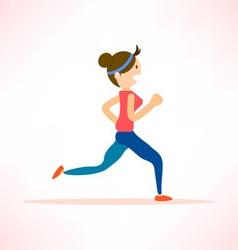Woman run isolated vector