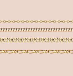 chains link strength connection seamless vector image vector image