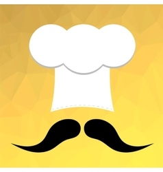 Chef Hat and Mustaches vector image vector image