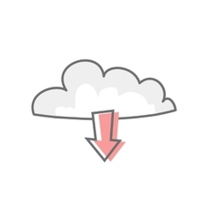 Cloud isolated on white video marketing vector