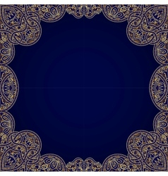 floral arabesque seamless background vector image