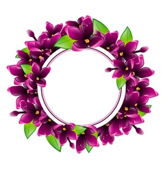 Lilac Flower Frame vector image