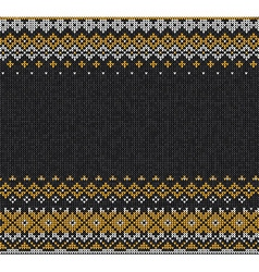 Scandinavian or Russian style knitted background vector image