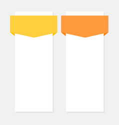 two options infographics template vector image