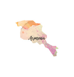 abstract armenia map vector image