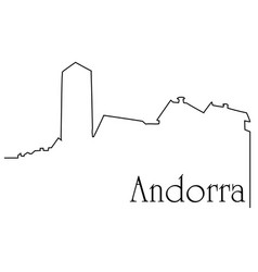 andorra city one line drawing background vector image