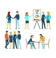 Business people in different poses vector image vector image