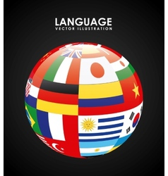 language poster design vector image