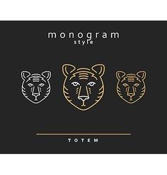Monogram bear Totem bears A set of monogrammed vector image