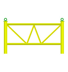 Yard fence icon cartoon style vector