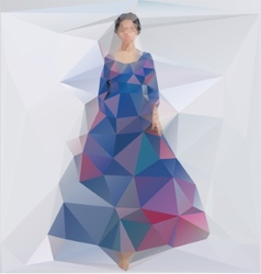 a Girl in a dress Triangle style vector image
