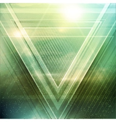 Abstract triangle future background vector image
