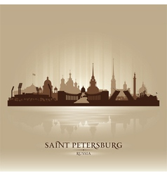 Saint Petersburg Russia city skyline silhouette vector image vector image