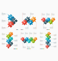set of 3-8 option infographic templates vector image vector image