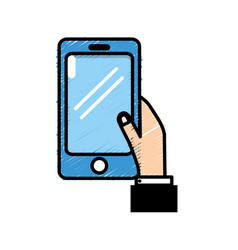 smartphone technology communication in the man vector image