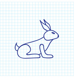 of zoo symbol on bunny doodle vector image