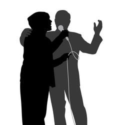 senior singing duet vector image vector image