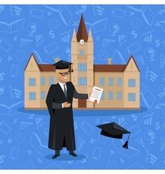 Smiling Graduate Student vector image