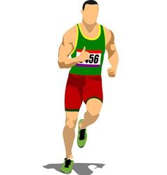 al 1106 running 04 vector image
