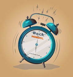 alarm clock back to school vector image