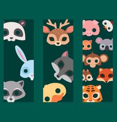 animals carnival mask banner festival vector image