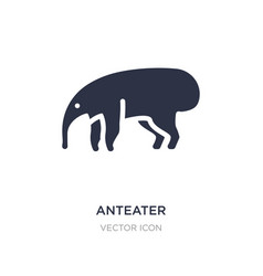 Anteater icon on white background simple element vector