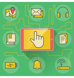 Application and devices infographics with icons vector