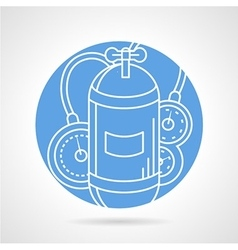 Aqualung blue round icon vector image
