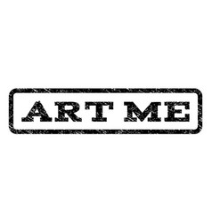 Art me watermark stamp vector