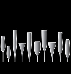 Background black bottle vector