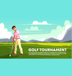 Background of golf tournament sport poster vector