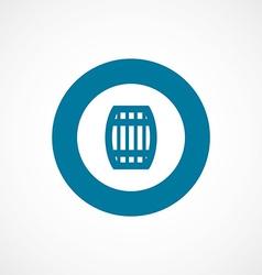 Barrel bold blue border circle icon vector