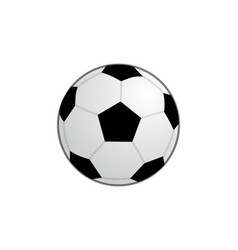 basic football ball icon clipart vector image