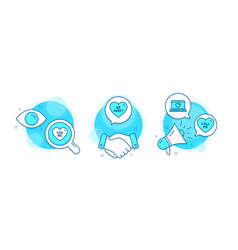 Be sweet ask me and web love icons set call me vector