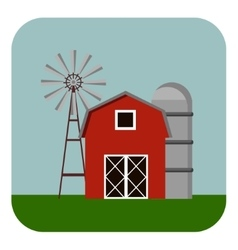 Building icon barn vector