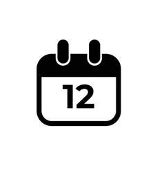 Calender icon date 01 - transparent background vector