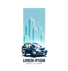 car logo design template transport or vector image
