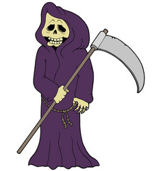 Cartoon grim reaper vector