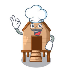 Chef chicken coop isolated on a mascot vector