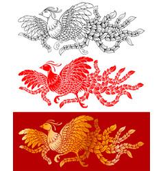 chinese phoenix set vector image