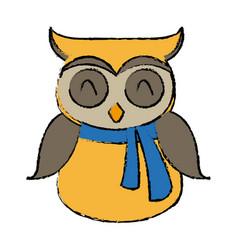 Christmas owl character bird funny vector