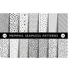 collection swatches memphis seamless pattern vector image