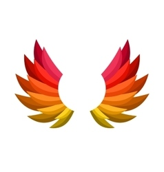 Color Wing Icon vector image